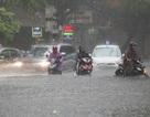 Hà Nội: Phố ngập như sông, người dân bì bõm sau trận mưa 30 phút