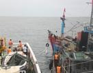 Cứu hộ tàu cá hỏng máy cùng 14 thuyền viên vào bờ an toàn