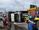 3 ô tô tông liên hoàn trên QL1A, một tài xế bị thương, người đi đường hú vía