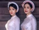 NSƯT Chiều Xuân và con gái út đẹp dịu dàng trong tà áo dài