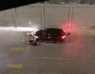 Ô tô tông xe máy toé lửa, 2 người bị thương nặng