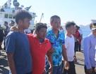 41 ngư dân bị chìm tàu ở Trường Sa được đưa về Cam Ranh an toàn