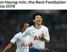 Son Heung Min hay nhất châu Á năm 2018, Quang Hải lọt top 15
