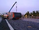 Xe tải lật nhào trên cao tốc, hàng ngàn con cá rải khắp mặt đường