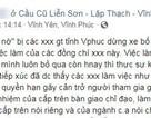 Tự xưng bảo kê quốc lộ, gọi điện nhờ xóa status tố CSGT trên Facebook