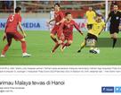 Báo Malaysia tâm phục khẩu phục sau thất bại trước đội tuyển Việt Nam