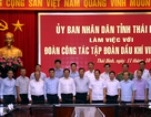 Tổng giám đốc PV GAS tham gia Đoàn làm việc với lãnh đạo UBND tỉnh Thái Bình