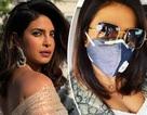 Hoa hậu Thế giới Priyanka Chopra đeo khẩu trang trên phim trường ở New Delhi