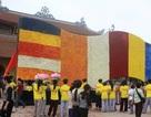 Ra mắt lá cờ Phật giáo bằng hoa lớn nhất châu Á