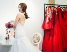 Á hậu Diễm Trang hồi hộp thử váy cưới