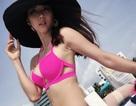 Ngọc Quyên lần đầu khoe dáng với bikini sau sinh con