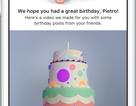 Facebook giới thiệu tính năng chúc mừng sinh nhật bằng video