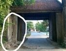 Cổng làng cổ Mông Phụ - Đường Lâm bị ô tô tông, nguy cơ đổ sụp