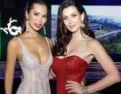 Siêu mẫu Hà Anh gợi cảm ngang Hoa hậu Hoàn vũ 2005 Natalie Glebova