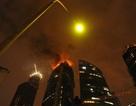 Cháy lớn tại tháp chọc trời đang thi công ở Mátxcơva