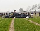 Trực thăng tấn công Trung Quốc lao xuống cánh đồng
