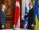Thủ tướng Ukraine dùng cờ Đan Mạch đón Tổng thống Thụy Sĩ