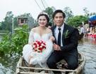 Độc đáo đám cưới đón dâu bằng... thúng câu mực