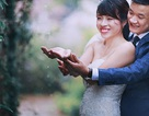 Ảnh cưới ngày mưa đẹp tuyệt của cặp đôi Hà thành