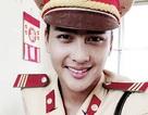 Chàng cảnh sát giao thông đẹp trai hút hồn thiếu nữ Việt