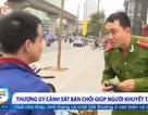 Chàng thượng úy cảnh sát bán chổi giúp người khuyết tật
