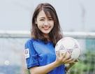 """Hot girl Vũ Quỳnh Anh hết mình cổ vũ """"Gà trống"""" Pháp kỳ EURO 2016"""