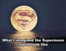 """Dân mạng """"tiu nghỉu"""" vì siêu trăng giống... trăng rằm"""