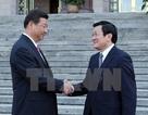 Lãnh đạo Việt-Trung trao đổi điện mừng 65 năm quan hệ ngoại giao