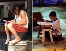 """Câu chuyện về những em bé nghèo hiếu học gây """"chấn động"""" mạng xã hội"""