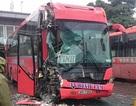 Hà Nội: Ô tô tông nhau liên hoàn trong bến xe, 2 người nhập viện
