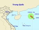 Áp thấp nhiệt đới trên Biển Đông đang suy yếu dần
