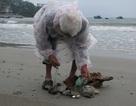 Ông lão nhặt rác trên bãi biển Đà Nẵng