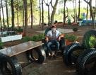 Công viên hút khách bởi những mô hình làm từ... lốp xe, dây điện