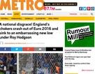 Báo giới Anh chỉ trích thậm tệ đội nhà sau trận thua Iceland