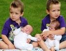 Kỳ lạ 4 anh em sinh cùng ngày, cùng tháng