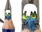 Tác phẩm điêu khắc tinh xảo trên... ngòi bút chì