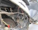 Xe của nhân viên Sở CS PCCC phát hỏa khi đang chạy