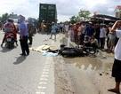 Truy tìm tài xế xe tải tông chết 2 bố con rồi bỏ trốn