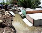 Vụ 5 căn nhà sạt lở xuống sông: Đã tìm thấy nạn nhân mất tích