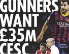 Arsenal sẵn sàng chi 43 triệu euro để sở hữu Fabregas