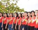 Thí sinh Hoa hậu Việt Nam hướng về biển đảo quê hương