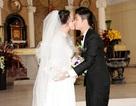 Nhật Kim Anh hạnh phúc bên chồng trong lễ cưới tại nhà thờ