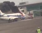 Boeing 737 bất ngờ bốc cháy trước khi hành khách lên máy bay