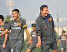 Cầu thủ U23 Việt Nam cười sảng khoái trước trận gặp Singapore
