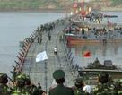 Chùm ảnh: Bắc cầu phao nối hai bờ sông Hồng