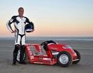 Lập kỷ lục tốc độ thế giới mới với máy xén cỏ