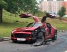 """""""Hải âu"""" Mercedes SLS AMG đầu tiên lâm nạn"""