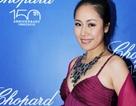 Hoa hậu Ngô Phương Lan lộng lẫy đi dự tiệc