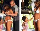 Mel B: Mang bầu vẫn tự tin diện bikini