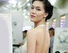 Hoa hậu Thùy Dung khoe vai trần giữa thời tiết lạnh